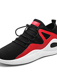 Da uomo Scarpe A maglia Primavera Autunno Comoda scarpe da ginnastica Corsa Bottoni Per Sportivo Casual Nero Bianco/nero Nero/Rosso