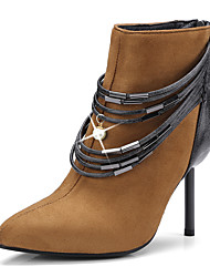 Women's Shoes Nubuck leather Fall Winter Fashion Boots Bootie Boots Pointed Toe Booties/Ankle Boots Imitation Pearl For Party & Evening