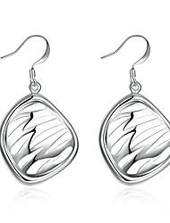 preiswerte -Damen Tropfen-Ohrringe Einfach Retro Grundlegend Rock Hiphop Süß Elegant Schmuck mit Aussage Kupfer versilbert Blattform Geometrische Form