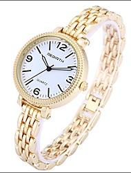 abordables -REBIRTH Mujer Reloj Casual / Reloj de Moda / Reloj de Pulsera Chino Reloj Casual Aleación Banda Casual / Elegante Plata / Dorado / Acero Inoxidable