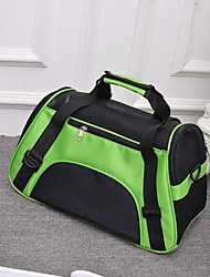 abordables -Chat Chien sac à dos Animaux de Compagnie Transporteur Portable Respirable Pliable Couleur Pleine Violet Vert Bleu