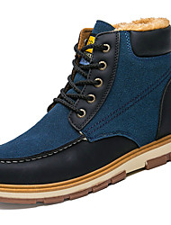 cheap -Men's Shoes PU Spring Fall Comfort Boots For Outdoor Blue Yellow Black