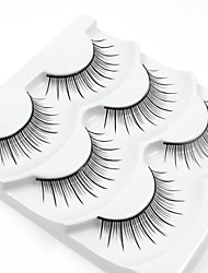 cheap -Eyelash 3 Casual/Daily Full Strip Lashes Natural Long Best Quality