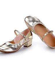 cheap -Women's Modern Leatherette Heel Outdoor Splicing Chunky Heel Gold Silver Customizable