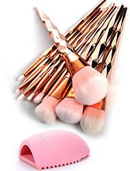 economico -10 pezzi Set di pennelli Capelli sintetici Ecologico Professionale Coppa larga Plastica Occhi Viso Naso
