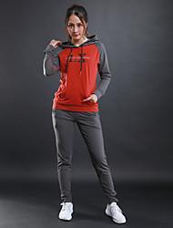 Per donna T-shirt da corsa Manica lunga Allenamento Fitness Tuta da ginnastica per Corsa Fitness Cotone Nero Nero/Rosso Jacinth + Gray S