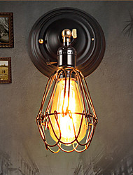 cheap -Rustic/Lodge Wall Lamps & Sconces For Indoor Metal Wall Light 220V 40W