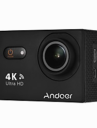 cheap -Andoer AN9000 4K 16MP WiFi Action Sports Camera 1080P FHD 2 Touchscreen 170 Wide Angle Lens with Hard Case Support 4X Zoom Waterproof 40m