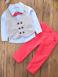 cheap -Boys' Solid Colored Block Clothing Set