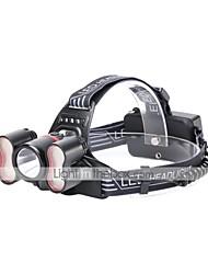 cheap -U'King Headlamps LED 2400 lm 5 Mode Cree T6 Portable Durable Camping/Hiking/Caving Everyday Use Cycling/Bike Hunting Fishing Black