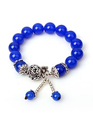 cheap -Women's Synthetic Sapphire Strand Bracelet - Asian Casual Circle Blue Bracelet For Gift School