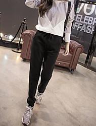 economico -Da donna A vita medio-alta Casual Media elasticità Pantaloni Pantaloni,Tinta unita Per tutte le stagioni