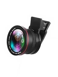 zomei 2 em 1 lente de câmera profissional hd com fio de 37mm lente de fisheye super de 0,42x lente macro 10x para iphone