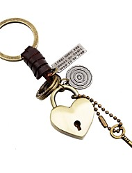 cheap -Keychain Jewelry Gold Heart Leather Alloy Heart Fashion Daily Going out Women's