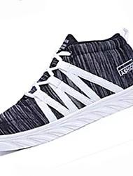 preiswerte -Damen Schuhe PU Stoff Frühling Herbst Komfort Sneakers Runde Zehe für Grau Fuchsia Rosa Schwarz / weiss