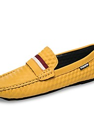cheap -Men's Shoes Knit Suede Spring Fall Moccasin Loafers & Slip-Ons For Casual Khaki Yellow Black