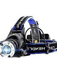 abordables -GELE044AB Lampes Frontales 4.0 Mode d'Eclairage avec Piles Fonction Zoom / Professionnel Camping / Randonnée / Spéléologie / Usage