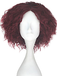cheap -Synthetic Wig Kinky Curly Red Men's Capless Carnival Wig Halloween Wig Party Wig Lolita Wig Natural Wigs Cosplay Wig Short Synthetic Hair