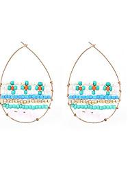 abordables -Femme Perle imitée Perle Boucles d'oreille gitane Clips - Basique Ovale Pour Soirée Sortie