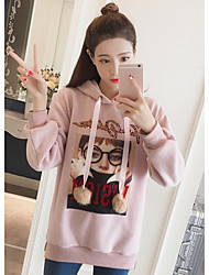 Women's To-Go Hoodie Print Hooded Micro-elastic Polyester Long Sleeves Spring/Fall
