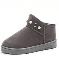 Feminino Sapatos Tecido Outono Inverno Conforto Solados com Luzes Botas Para Casual Preto Cinzento Rosa claro