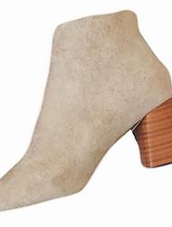 Damer Sko Gummi Vinter Militærstøvler Støvler Spidstå Til Sort Beige Rød