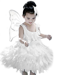 cheap -Little White Fairy Kids Christmas Costume Princess Animal Fairytale Angel/Devil Dress Kid Halloween Carnival Children's Day New Year Festival/Holiday