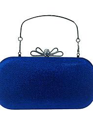 abordables -Femme Sacs Similicuir Sac de soirée Noeud(s) / Détail Cristal Rouge / Violet / Bleu royal