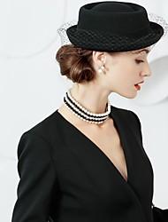Недорогие -шерстяная сетка шляпы 1 головной убор свадебный вечер элегантный женственный стиль