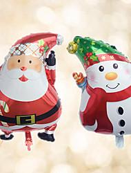 economico -2 pezzi / set - palloncini foil 18inch babbo natale e pupazzo di neve beter gifts® decorazione natalizia