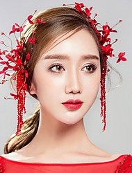 cheap -Gemstone & Crystal Cotton Fabric Headpiece Head Chain 2pcs Wedding Special Occasion Headpiece