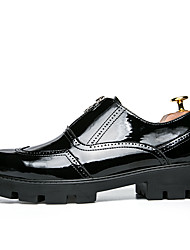 cheap -Men's Shoes PU Spring / Fall Comfort / Formal Shoes Oxfords Black