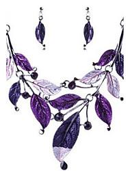 baratos -Mulheres Conjunto de jóias - Strass Elegante Incluir Roxo Para Festa de Noite / Palco