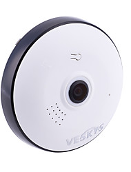 preiswerte -veskys® 1536p 360-Grad-Fisheye-Objektiv drahtlose IP-Kamera Smart Home 3.0MP Home Security Wifi Panorama-Kamera