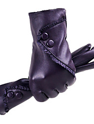cheap -Women's PU Leather Wrist Length Fingertips,Pure Accessories Casual Winter Gloves Windproof Keep Warm Waterproof Fashion Solid Winter