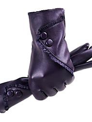 Недорогие -Жен. Однотонный / Аксессуары / Зимние перчатки До запястья С пальцами Перчатки Однотонный / Зима
