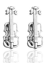 baratos -Prata Botões de Punho Cobre Instrumentos Musicais Romântico Homens Jóias de fantasia Para Graduação
