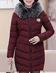 cheap -Women's Down Coat,Casual Sports & Outdoor Solid-Cotton Long Sleeves