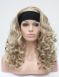 cheap -Women Synthetic Wig Capless Long Curly Blonde Partial/Half Wigs Natural Wigs Costume Wig