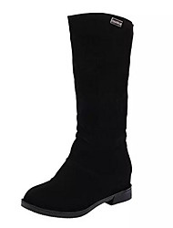 cheap -Women's Shoes Nubuck leather Winter Slouch Boots Boots Mid-Calf Boots For Casual Red Brown Black