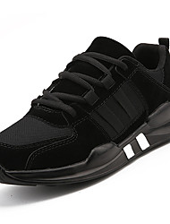 cheap -Men's Shoes Knit Fabric Tulle All Season Comfort Athletic Shoes Running Shoes For Athletic Casual Khaki Gray Black