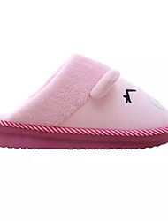 Men's Shoes Leather Winter Fluff Lining Slippers & Flip-Flops For Casual Black Blushing Pink