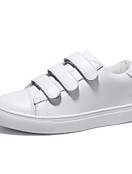cheap -Women's Shoes Real Leather Spring, Fall, Winter, Summer Comfort Sneakers Round Toe For Sports & Outdoor Casual White