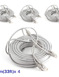 preiswerte -Kabel 4PCS 33ft CCTV RJ45 Video Cable DC Power Extension für Sicherheit Systeme 1000cm 1.23kg