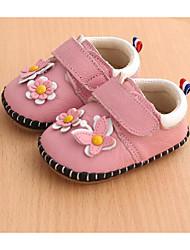 Недорогие -Дети обувь Кожа Весна Осень Удобная обувь Обувь для малышей На плокой подошве Назначение Повседневные Красный Розовый