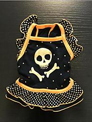 preiswerte -Katze Hund Mäntel Pullover Weihnachten Hundekleidung Schwarz Baumwolle Kostüm Für Haustiere Nerd & Chic Party Cosplay warm halten