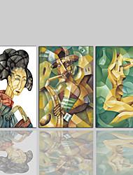 Lærredstryk Moderne Klassisk Rustikt,Tre Paneler Kanvas Vertikal Print Vægdekor For Hjem Dekoration