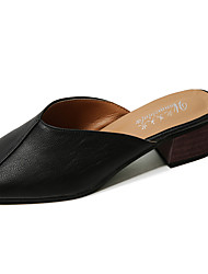 abordables -Mujer Zapatos PU Verano Confort Sandalias Tacón Plano Punta cerrada Combinación Para Casual Blanco Negro Gris