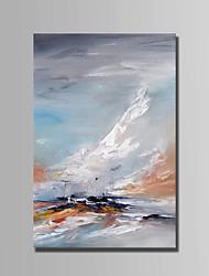 billige -Hang-Painted Oliemaleri Hånd malede - Landskab Abstrakt Lærred