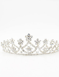 cheap -Rhinestone Tiaras with Scattered Bead Floral Motif Style Sparkling Glitter 1pc Wedding Birthday Headpiece